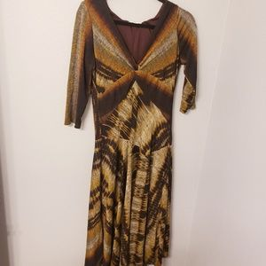 Dressbarn size 10 fall colored midi length dress